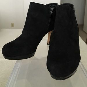 Clarks Shoes - Clark's Black Delsie Stella Suede Ankle Boots