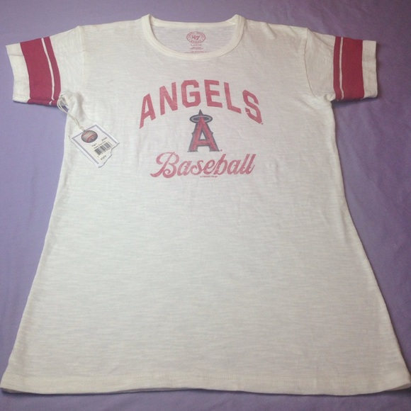 FORTY SEVEN BRAND Tops - MLB ANGELS TEAM Beautiful top New With Tags WOMENS ecb11e5870
