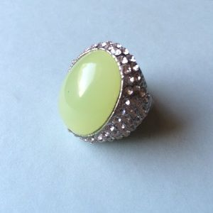 Jade Green Fashion Statement Ring