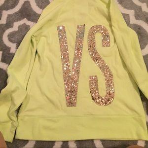 VS yellow zip hoodie