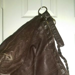 Lucky Brand brown leather crossbody bag