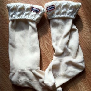 Cable-Knit Hunter Boot Socks