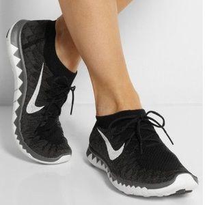 Nike Free 3.0 Flyknit Pantalones Blancos De Las Mujeres s3r5Da