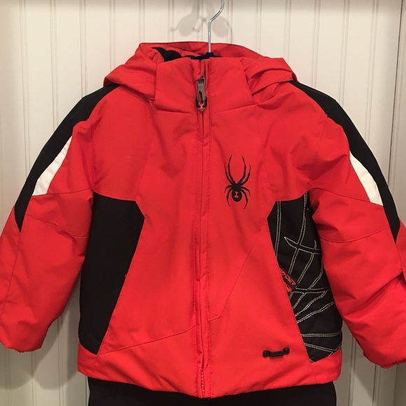 Boys 2T spyder snow jacket red orange black. M 57ddbe594127d0fa2c00ffef 93d93b081