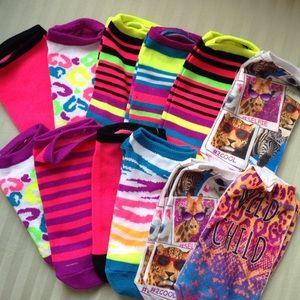 Other - NEW 12prs Youth Girls Low Cut Fun Print Socks