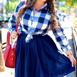 Shabby Apple Plaid Button Down Shirt!