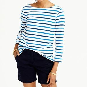 J. Crew Tops - J.Crew Boatneck T-shirt in multicolor stripe