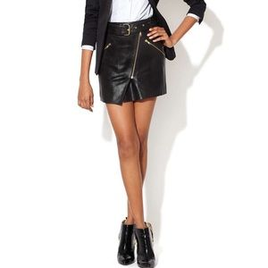 The Kooples Dresses & Skirts - The Kooples Asymmetrical Belted  leather Skirt NWT