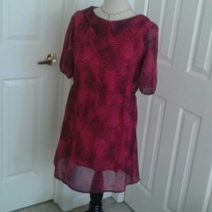 Dresses & Skirts - Dotted fuchsia dress