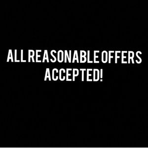Other - Accepting all reasonable offers.