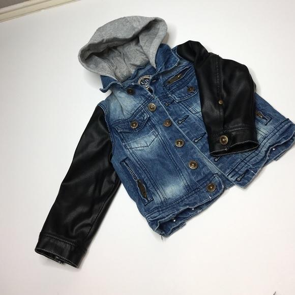 3594d9db121 Urban Republic Jackets & Coats   Toddler Boys Jean Jacket With Hood ...