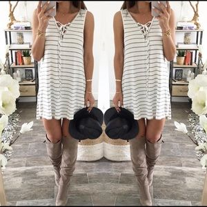Steezyer Stripe Tunic Black & White Dress lL NWT