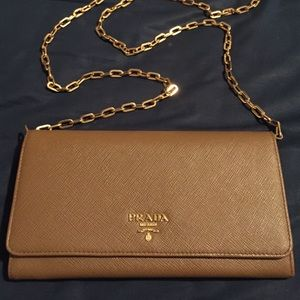 88fc95091170 🆕Prada saffiano leather wallet on chain