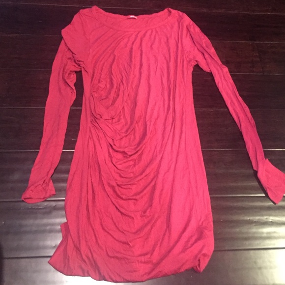 LAmade Dresses & Skirts - Lamade red dress ruched sz m bodycon comfy!