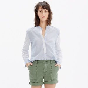 MADEWELL Wellspring Popover Shirt in Stripe Mix