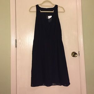 Black H&M midi dress size 10