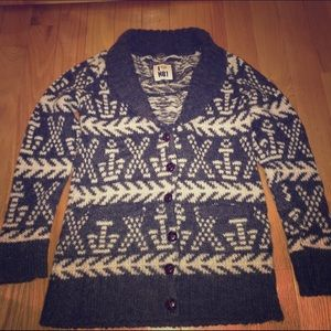 F21 H81 Winter Fair isle cardigan sweater SM
