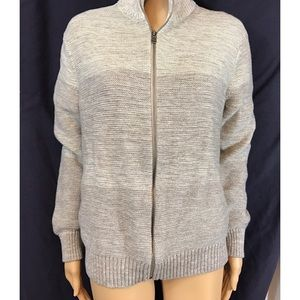 Banana republic. Zip up cardigan ombré cream/tan