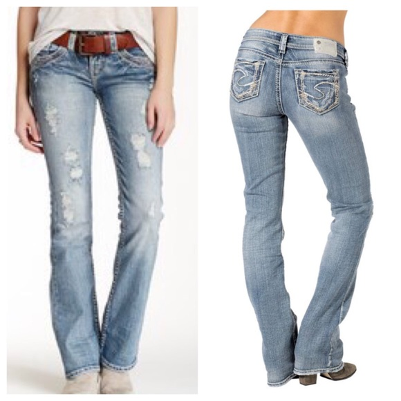 7da9e559 Silver Jeans Jeans   Aiko Mid Boot Destroyed Light Wash   Poshmark