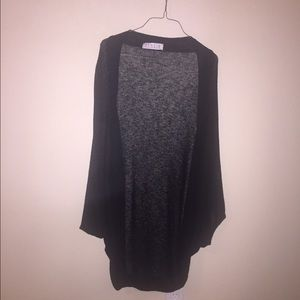 Black open knit sweater