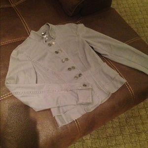 Grey Loft/Ann Taylor button up Peplum Jacket