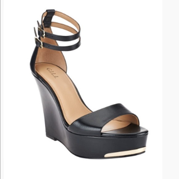 buy cheap amazon choice sale online G.I.L.I. Leather Ankle Strap Wedges - Avery bqaf95Z