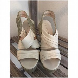 Boutique 9 Shoes - Boutique 9 :: Crossover Strap Wedge :: Cream