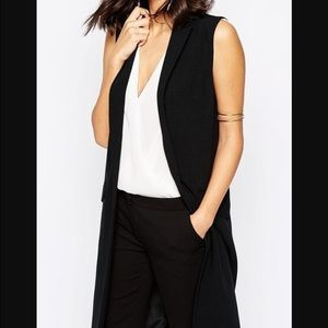 ASOS Jackets & Blazers - NWT ASOS Black Sleeveless Coat/Vest