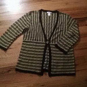 Brown stripe cardigan