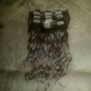 Accessories - Brown 100% human hair extensions.