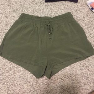 Forever 21 Green Flowy Shorts
