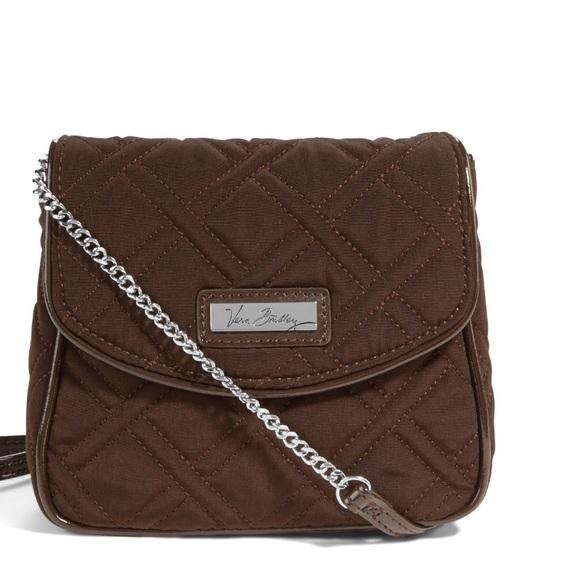 Vera Bradley Handbags - Vera Bradley Crossbody Bag Expresso New