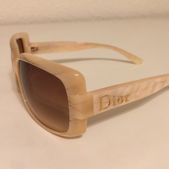 5b517e6e87de Christian Dior Accessories - Christian Dior Cream Mother of Pearl Sunglasses
