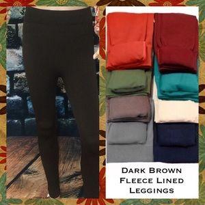 Flying Free Btq Pants - Dark Brown Fleece Leggings