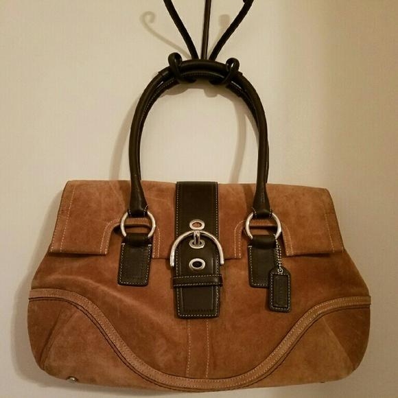 Coach Handbags - Coach suede handbag f5c18bcaf45f3