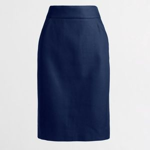 J.crew Pencil Skirt Double-Serge Cotton, Size 10