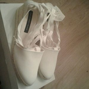 Ilse Jacobsen Shoes - white cotton espedrill wedge Ilse Jacobsen