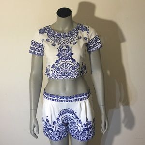 Other - Two piece Crop top & shorts set