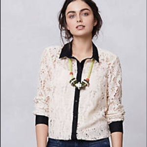  Anthropologie Vanessa Virginia Lace Blouse