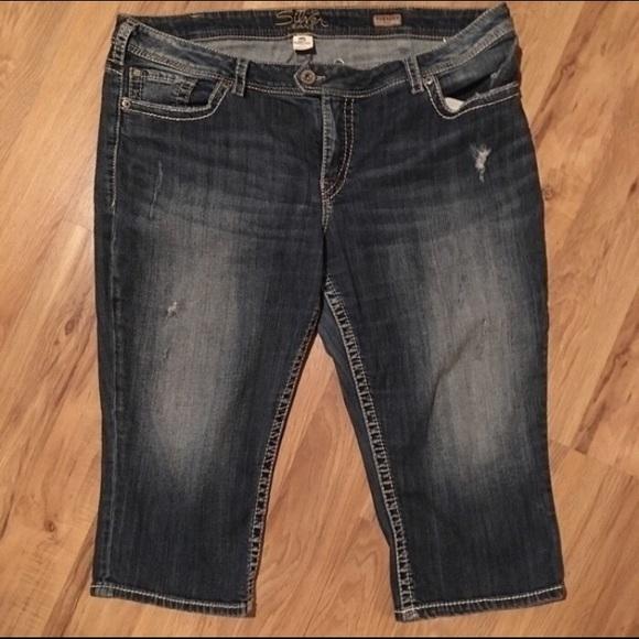 75% off Silver Jeans Denim - Plus size silver jeans Tuesday crop