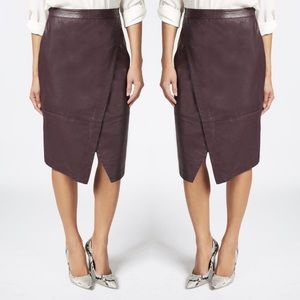 Dresses & Skirts - Faux leather wrap skirt