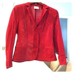 Akris Jackets & Blazers - NWOT Akris Punto Red Mesh blazer!