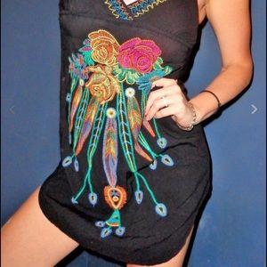 Flying Tomato Dresses & Skirts - Flying Tomato Black Embroidered Dress! Medium