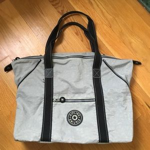 Kipling Grey Overnight Bag WITH cosmetic case