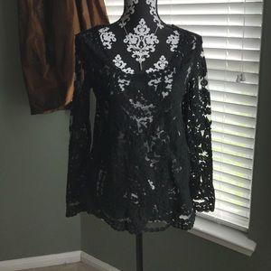 C'est Ca New York Tops - NWT Black lace top