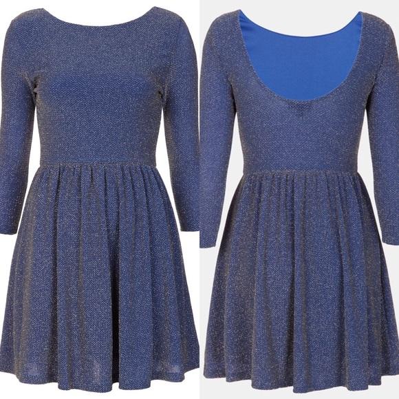 Topshop Sparkle Skater Dress. M 57dec25078b31ca17e0060bc 94bcab137