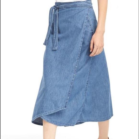 42% off GAP Dresses & Skirts - Denim wrap skirt from Aj's closet ...