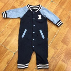 Le Top Other - Le Top Rookie Romper Navy Blue 3 Mo