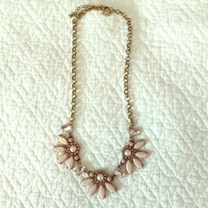 Francesca's Collections Jewelry - Blush Pink and Gold Statement Necklace