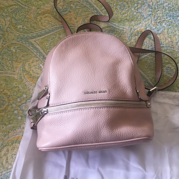 47ebbae9758a Michael kors little pink backpack size9x10. M_57dec70b291a35a401006c21